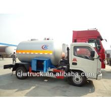 DFAC 4x2 mini lpg tanker, 5.5 m3 lpg camião-cisterna