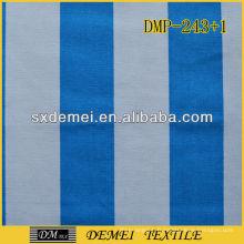 tissu rayé en toile poly coton bleu et blanc