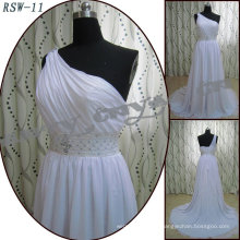RSW-11 high quality 2011 Hot Sell New Design Ladies Fashionable Elegant Customized one shoulder A-line Real Bridal Dress