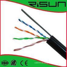 Heißer Verkauf UTP Cat5e Kabel mit Stahl Messenger Overhead Verkabelung