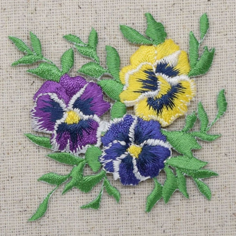 Pansy Flowers Embroiderypatch