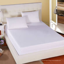 Hotel / Hostipal All Size 100% Algodão Plain White Fitted Sheet (WSFI-2016009)