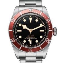 Бренд Tudorrrr общества Автоматический двойной Бренд из нержавеющей стали черный большой Циферблат 40мм мужские спортивные наручные часы Р часы