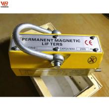 Elevador magnético permanente de 5 toneladas para o levantamento de aço do dever de Heave