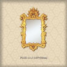 Miroirs luxueux à grande taille PU pour les villas