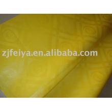 Damast Shadda Bazin Riche Guinea Brokat Stoff Lager Mode Verkauf afrikanischen Stoff 100% Baumwolle gelbe Farbe neue Designs