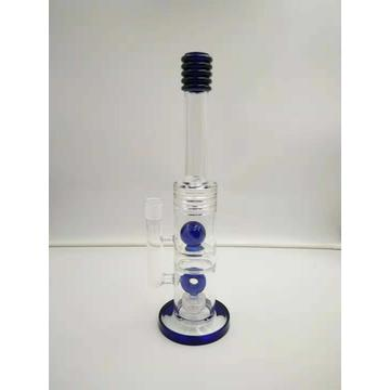 Bangs en verre à tube droit fumant des conduites d'eau