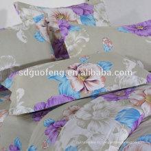 97% COTON 3% SPAN SATEEN TISSU fleur impression coton satin chemise tissu, satin de coton pour l'habillement