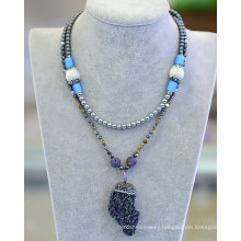 Fashion Natural Stone Hematite Necklace Jewelry