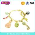 Lovely Gold Plated Charm Bracelet for Girls