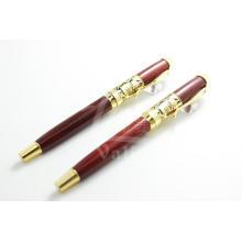 Luxus Design Holz Stift mit Gold für Geschäftsleute