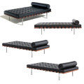 Italian Stainless Steel Legs Leather Barcelona Daybed