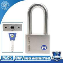 MOK lock W12 / 50WF long manilha fechadura SUS304 aço inoxidável borracha tampa cadeado
