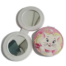 Рекламные леди PU кожа Компактная зеркало для макияжа (B2001)