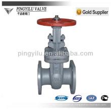 Rússia padrão de subida de haste de aço fundido de tratamento de águas residuais linha de tubulação usado válvula de portão PN16