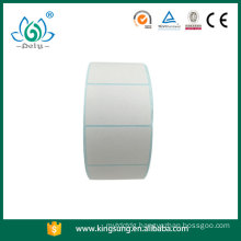 blank blue back paper thermal label sticker in roll