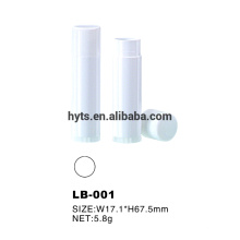 5,8g Kunststoff weiße Farbe Lippenbalsam Stock Rohr