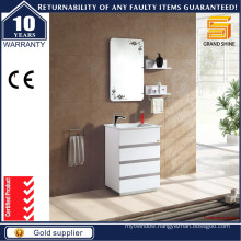 Modern Floor Mounted MDF White Bathroom Vanity Unit for Australian
