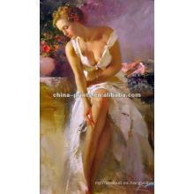 Pintura atractiva china del extracto de la mujer de la alta calidad