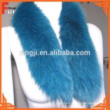 Garniture en fourrure véritable, fourrure de renard, accessoires de vêtement