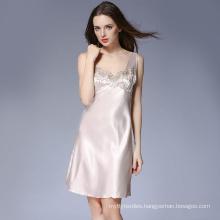 women satin short pajama silk linger set Nightdress Sleepwear Ladies adult onesie Loose Nightgown Pajamas