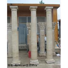 Marble home outdoor decor pillar marble columns for sale