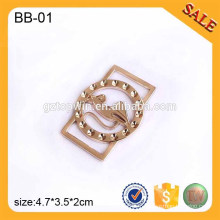 BB01 Boucle de glissière ajustable personnalisée Boucle de tri glissement en métal pour sac