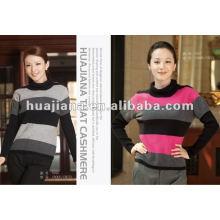 Stylish women's cashmere turtleneck sweater