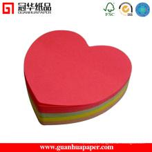 SGS Fancy Heart Paper Cube Cartoon Shaped Paper Cube