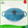 Geschirr Großhandel Blau Emaille Gusseisen Antihaft-Topf mit Bestpreis