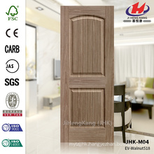 JHK-S01 3.5mm Lattice and Long Design Carb Certificate EV-518 Walnut HDF Door Skin Wood