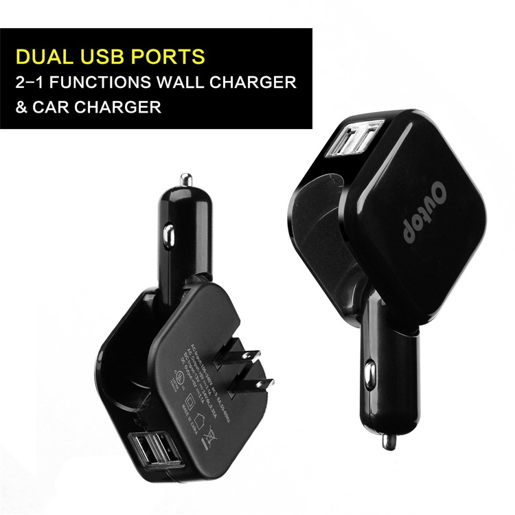 Automatic Battery Charger Mobilephone Dual Usb Car Charger