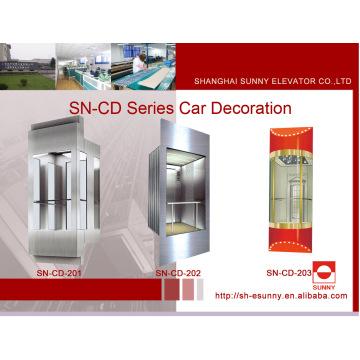 Beobachtung Aufzug Kabine mit Edelstahl-Panel (SN-CD-201)