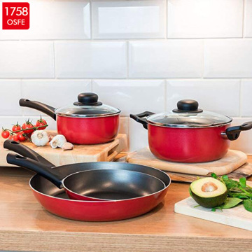 Aluminum Black Nonstick Hot Pot Saucepan