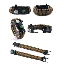 Pulsera de supervivencia Paracord Pulsera multifunción LED