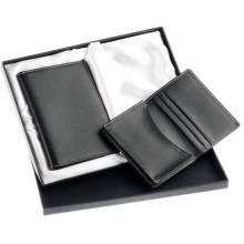 Leder Geschenkset von Passhalter / Kartenhalter (GF-002)