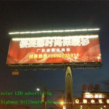 Vendible cartelera LED-solar al aire libre CE iluminación, iluminación de publicidad, cartelera de energía solar luz solar panel(JR-960)