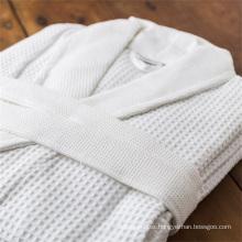 Hotel home wholesale unisex 50/50 poly cotton waffle bathrobe