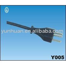 Câble de cordon d'alimentation C.a. Qiaopu fil prise brasil type approbation Uciee