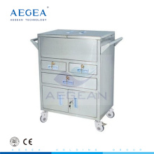 AG-SS028 medical supply 4 wheels hospital trolley for sale