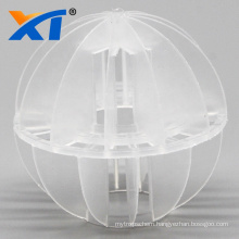 hdpe tower packing media plastic polyhedral hollow floatation ball