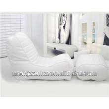 luxury pu leather sectional bean bag sofa recline bean bag chaise