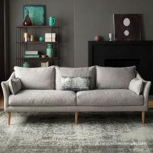 Sofá de tecido moderno pequena sala de estar