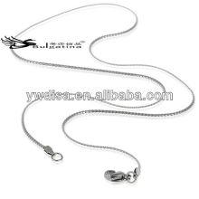 Chaîne de collier en acier inoxydable de Lady de 45 cm pour la fabrication de bijoux en serpent