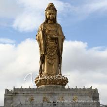 Высокое качество открытый сад декор бронзовая женская статуя Будды