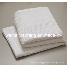 Woven Waffle Weave100% Cotton Blanket (NMQ-CB016)
