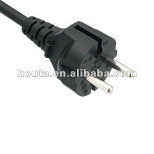 Cable de alimentación enchufe francés VDE Universal