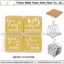 Coasters da lembrança do casamento com projeto bonito