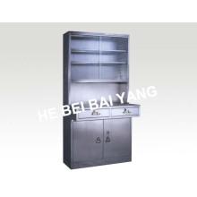 (C-7) Gabinete de medicamentos de aço inoxidável com gavetas