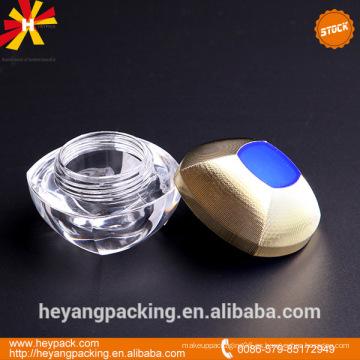 Frasco de crema cosmética de acrílico en stock